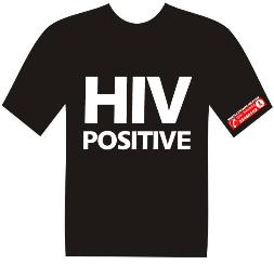 HIV POSITIVE T-shirt design