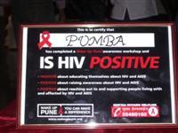 """PUMBA is HIV Positve"" certificate"